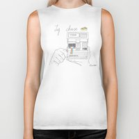 cheese Biker Tanks featuring Say Cheese by Dario Olibet