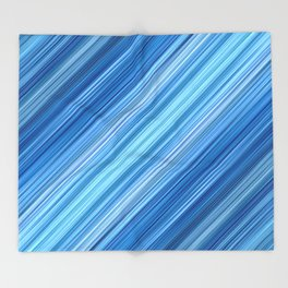 Ambient 1 in Blue Throw Blanket