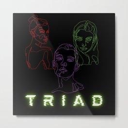 Triad Love Relationship Tree Way Romance Metal Print