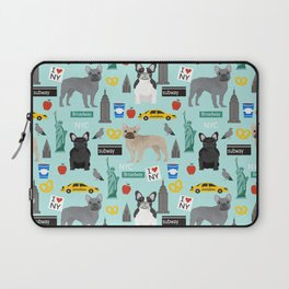 French Bulldog new york city tourist big apple dog breed pet friendly designs Laptop Sleeve