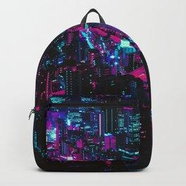 Cyberpunk Vaporwave City Backpack