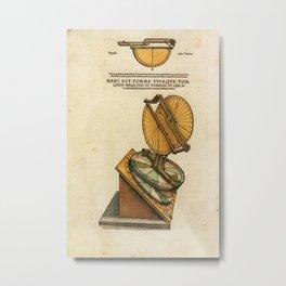 Peter Apian - Astronomicum Caesareum 1540 - Plate 35 - The Torquetum Metal Print