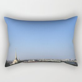 Clear sky cityscape. Admiralty building and winter palace. Rectangular Pillow