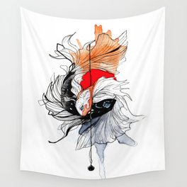 BETTA SPLENDENS INKTOBER Wall Tapestry