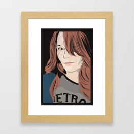 The target of my adoration Framed Art Print