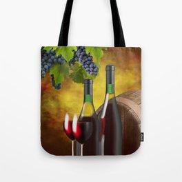Evening Wine Tasting Art Tote Bag