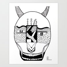 The Devil and His Door Art Print