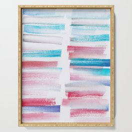 15 | 181101 Watercolour Palette Abstract Art | Lines | Stripes | Serving Tray