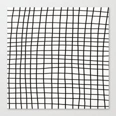 Handdrawn Grid Canvas Print