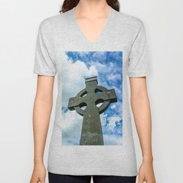 Celtic Cross Unisex V-Neck