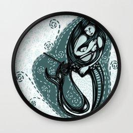 La Sirena - The Mermaid - by Jezli Pacheco jezpokili.com Wall Clock