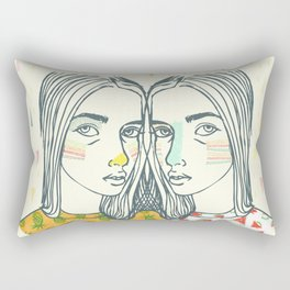 Last Sunset Twins Rectangular Pillow