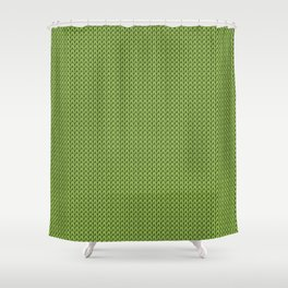 Knitted spring colors - Pantone Greenery Shower Curtain