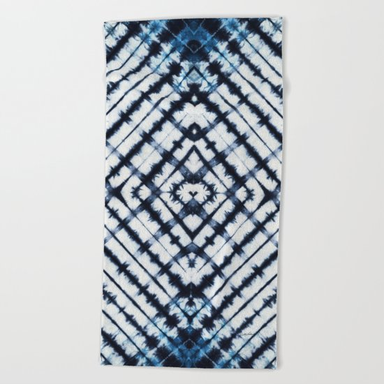 Diamonds Indigo Beach Towel