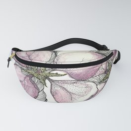 Pink Tiger Lilly Watercolour Painting Fanny Pack