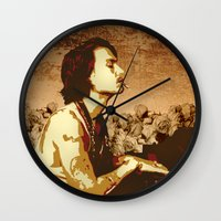 johnny depp Wall Clocks featuring Johnny Depp by victorygarlic - Niki