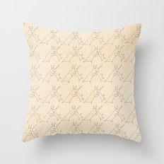 Scribbled Unicorn V3 Throw Pillow