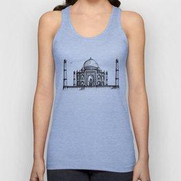Taj Mahal Hand Drawing Unisex Tank Top