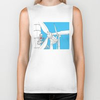 wind Biker Tanks featuring Wind  by Jonas Ericson