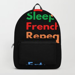 Eat. Sleep. French Horn. Repeat. Backpack