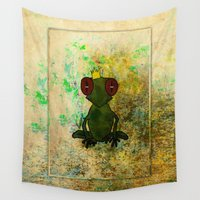 prince Wall Tapestries featuring Frog Prince by Ginkelmier