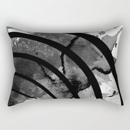 The Sound Of Black And White Rectangular Pillow