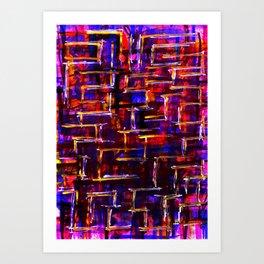 The Borderline Maze Art Print