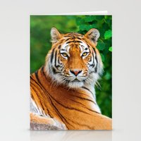 asian Stationery Cards featuring Asian Tiger by Tom Lee