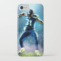 seahawks iPhone & iPod Cases featuring SEAHAWKS POWER by THEMAD3