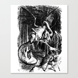 Jabberwocky Illustration from Alice in Wonderland Transparent Background Canvas Print