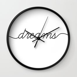 sweet dreams (2 of 2) Wall Clock