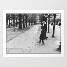 Child skipping, Jardin des tuileries, Paris 2012 Art Print