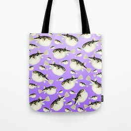 Puffer Fish Violet Purple Pattern Tote Bag
