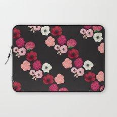 Black & Flowers Laptop Sleeve