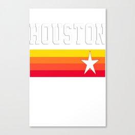 Houston Astros Baseball Throwback Stripes Vintage Canvas Print