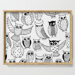 Funny owls Serving Tray
