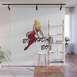 Birthday Boy Vintage Blond Diva Gifts For Men Guys and Boys Wall Mural