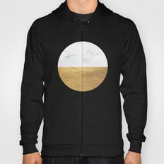 Color Blocked Gold & Marble Hoody