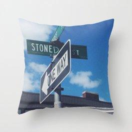 Stoned Street Throw Pillow