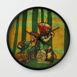 The Fox and the Girl Wall Clock