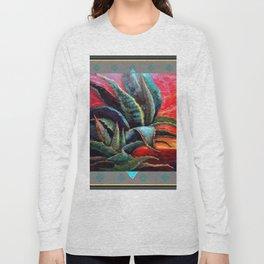 GREY ART DECO SOUTHWEST DESERT AGAVE Long Sleeve T-shirt