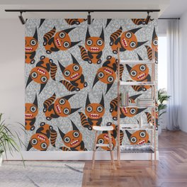 Funny orange monster Wall Mural