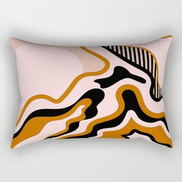 Beautiful Journey - Caramel and Cream Rectangular Pillow