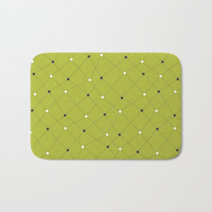 Chemistry Class Doodles - Lime Bath Mat