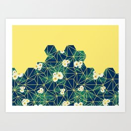 Tropical Tiles #society6 #decor #buyart Art Print