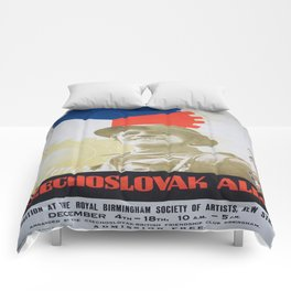 Vintage poster - Your Czechoslovak Ally Comforters