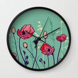 Summer Field Wall Clock