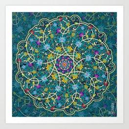 Turquoise swirl Art Print