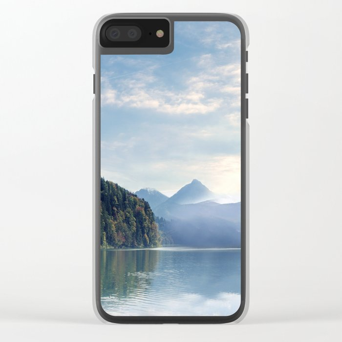 Wanderlust - Mountains, Lake, Forest Clear iPhone Case
