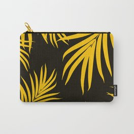 Palm Leaves Pattern Yellow Vibes #1 #tropical #decor #art #society6 Carry-All Pouch